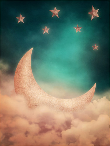 Premium poster Moon and stars