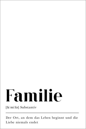 Premium poster Familie Definition (German)