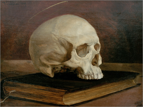 Poster Skull on a book