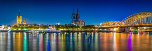 Premium poster Panorama of the Cologne skyline