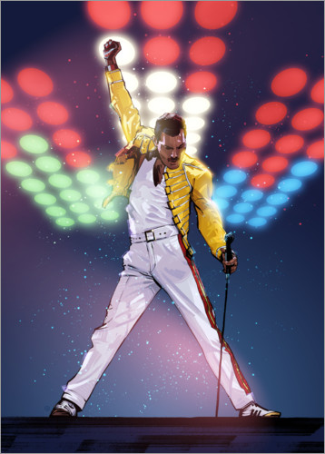 Freddie Mercury Posters And Prints Posterlounge Co Uk