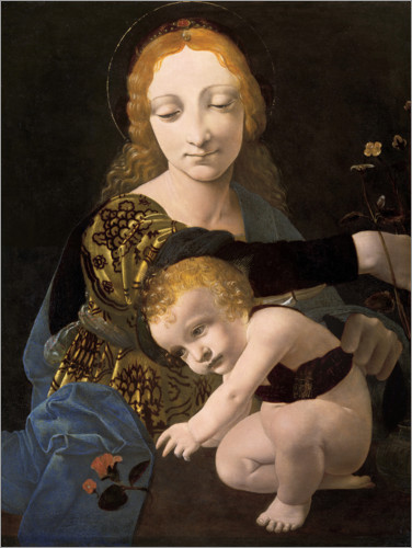 Premium poster The Madonna of the Rose