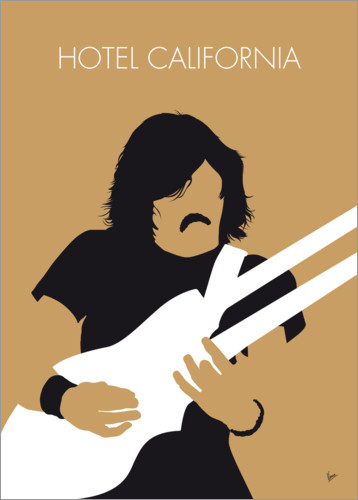 Premium poster No230 MY THE EAGLES Minimal Music poster