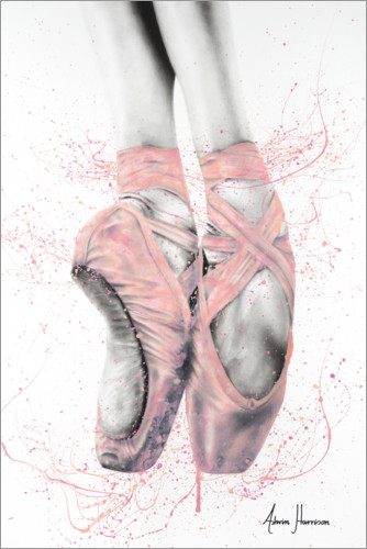 Premium poster Pretty Pointe Ballet Shoes