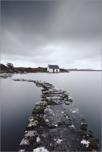 Premium poster A fisherman´s hut in the endless wilderness of Connemara Ireland