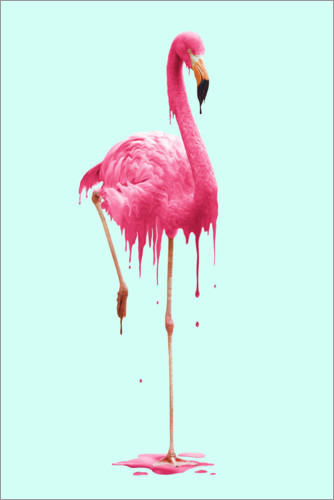 Premium poster Melting flamingo