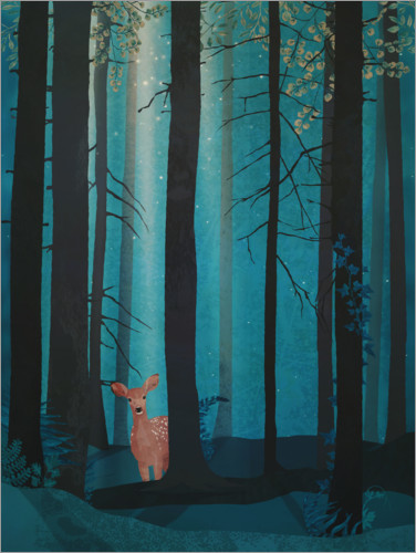 Premium poster Fawn in the woods