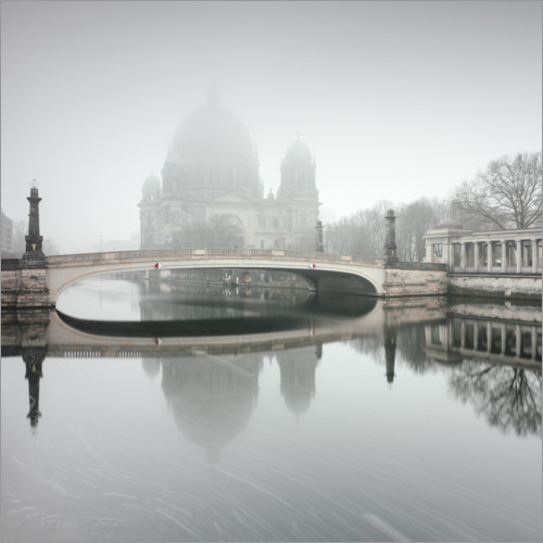Wall sticker Berlin Cathedral in the fog