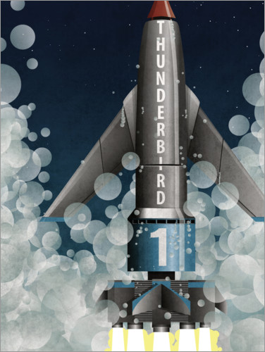 Premium poster Thunderbird 1 Rocket Launch