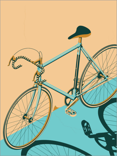 Premium poster Isometric Bicycle