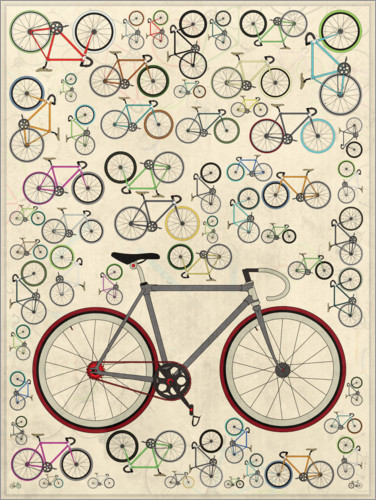 Premium poster Vintage Fixie Bicycles