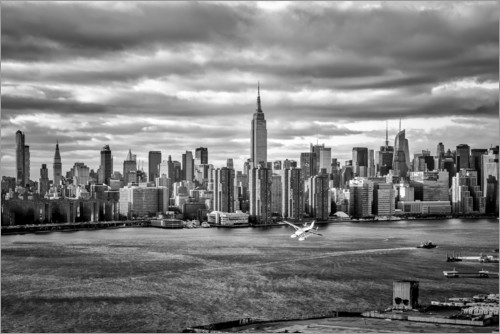Premium poster New York Skyline from Brooklyn