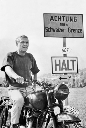 Premium poster Steve McQueen in The Great Escape