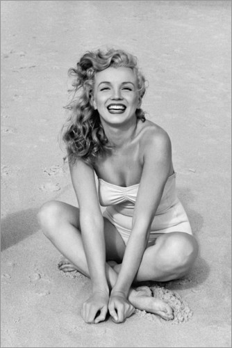 Premium poster Marilyn Monroe in a bathing suit