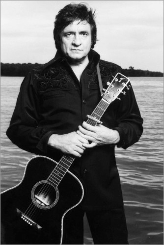 Premium poster Johnny Cash with guitar