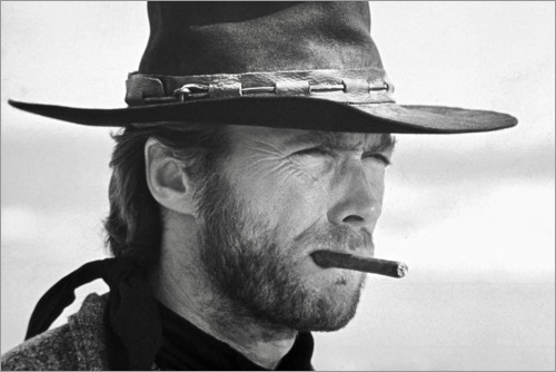 Clint Eastwood In The Good The Bad And The Ugly Posters And Prints Posterlounge Co Uk