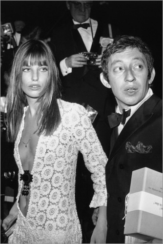 Premium poster Jane Birkin and Serge Gainsbourg