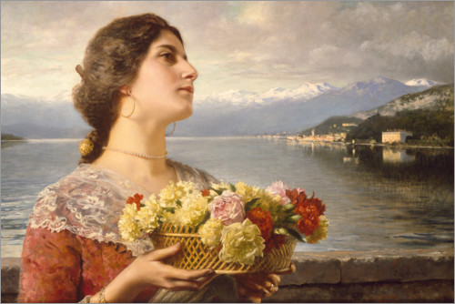 Premium poster Italian beauty by a North Italian lake