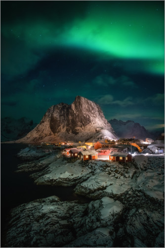 Premium poster Northern lights in Norway