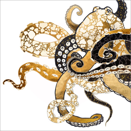 Wall sticker Metallic Octopus