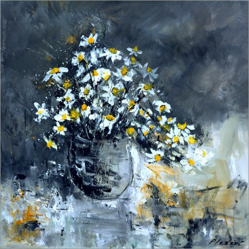 Premium poster Still life with daisies