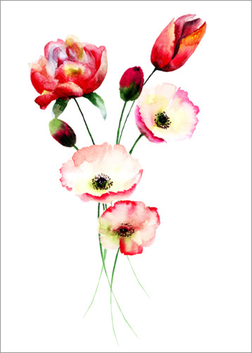 Premium poster Red flower bunch