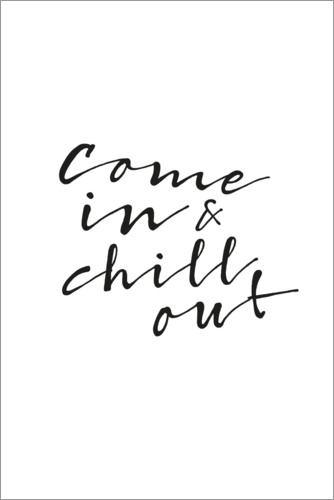 Premium poster Chill out
