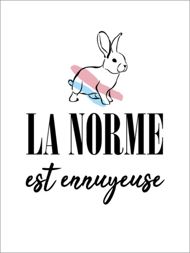 Premium poster Normal is boring (french)