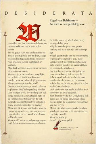 Premium poster Desiderata - Dutch Design 4