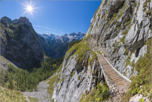 Premium poster Mountain path in the Berchtesgaden National Park