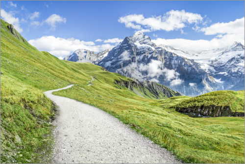 Premium poster Swiss Alps at Grindelwald