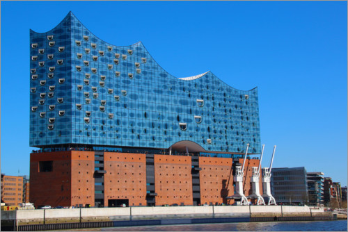 Premium poster Elbphilharmonie in the sunshine