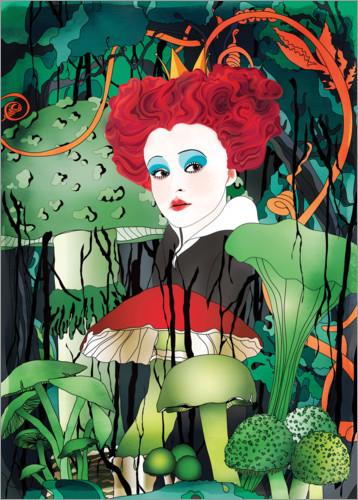 Premium poster Red Queen Alice in Wonderland