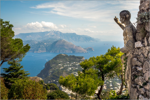 Premium poster View of Capri