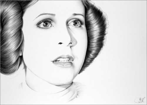 Premium poster Carrie Fisher