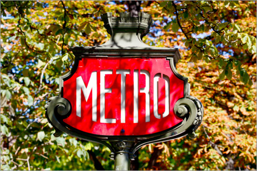 Premium poster Metro sign in Paris, France