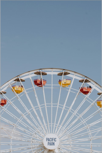 Premium poster Ferris wheel at Pacific Park in Santa Monica, California