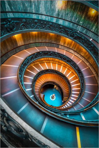 Premium poster Spiral staircase Vatican, Rome