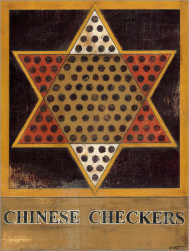 Premium poster Chinese Checkers