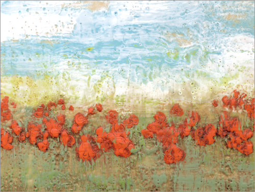 Premium poster Coral Poppies I