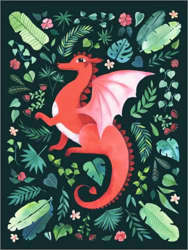 Premium poster Tropical Dragon