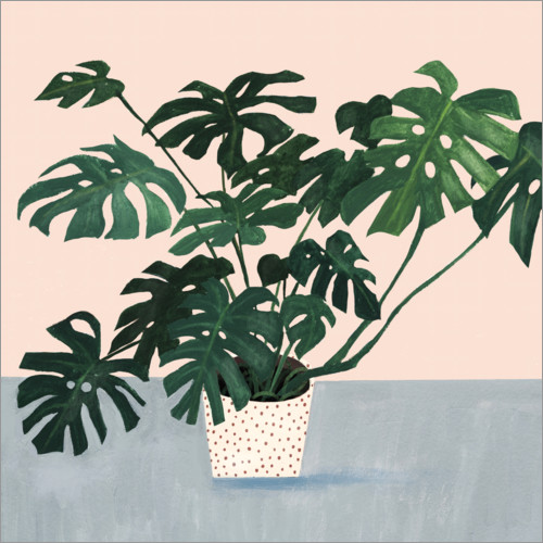 Wall sticker Monstera in spotted pot