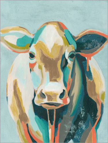 Premium poster Colorful cow II