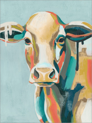 Premium poster Colorful cow i