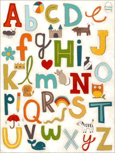 Premium poster Letters of the Alphabet