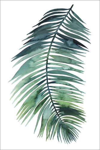 Premium poster Palm leaf watercolor II