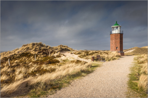 Premium poster Lighthouse on the Red Cliff, Sylt