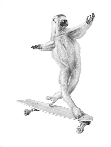 Premium poster Lemur on the board