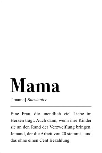 Premium poster Mama Definition (German)