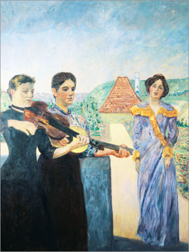 Premium poster Three women in the vineyard